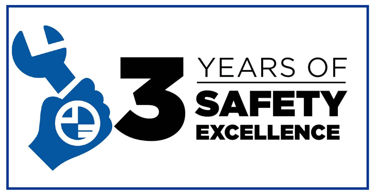 3 Years Of Safety Excellence