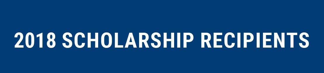 Pj 2018 Scholarship Recipients